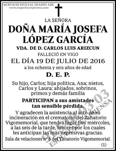 María Josefa López García